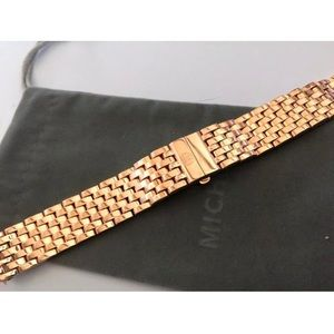 Michele Deco 18mm Gold plated watch bracelet